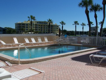 Private heated pool for Beachfront Siesta Key Guests