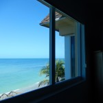 Direct beach and Gulf view from laying in Master Suite bed