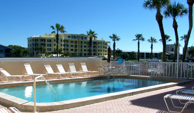 Beachfront Siesta Key guests enjoy our heated salt-water pool and club house