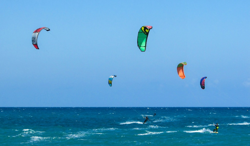 On windy days you can watch kite surfers from the beachfront lanai as they jump 10 to 20 feet in the air