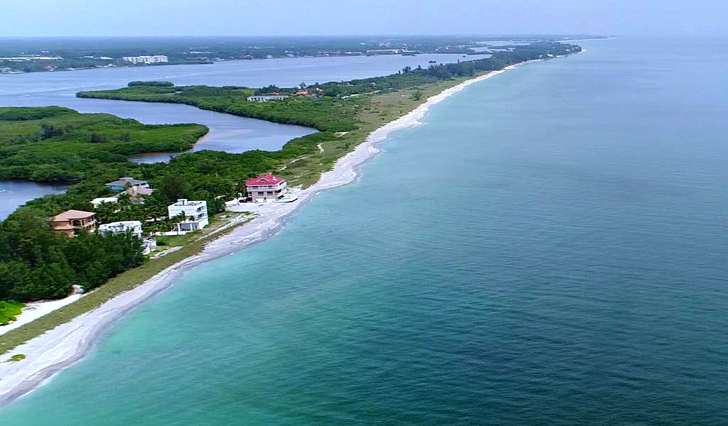 Drone View (starting just south of condo) of Siesta Key Beach to the South by Sarasota Experience