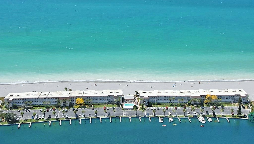 Beachfront Siesta Key Aerial View