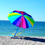 We provide umbrellas and beach chairs for our guests and we're saving a beachfront seat just for you