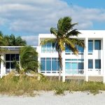 A Siesta Key beachfront house you'll see on a walk to the north from our condo