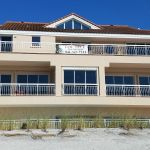 After you pass this Siesta Key beachfront house, which is only about 1/4 miles south of our condo, there is more than a mile of totally undeveloped beachfront to stroll often in near solitude