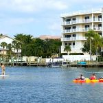 Rent a paddleboard, kayak or jet ski and get up close with the manatees that often play in the bay